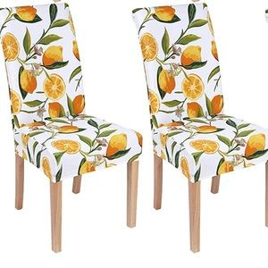 Colorxy Lemon Fabric Removable Chair Covers